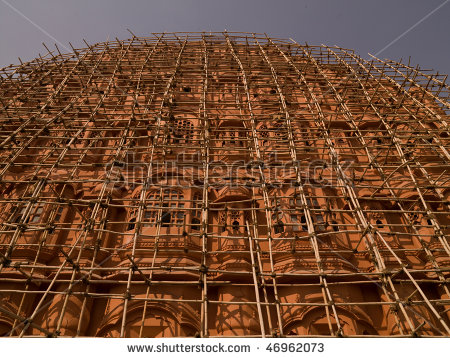 stock-photo-jaipur-india-scaffolding-on-exterior-of-building-46962073